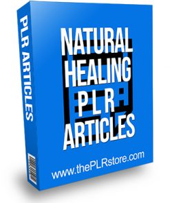 Natural Healing PLR Articles