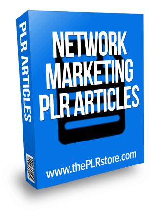network marketing plr articles