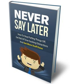 Never Say Later Ebook MRR