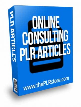 Online Consulting PLR Articles with private label rights online consulting plr articles 327x431