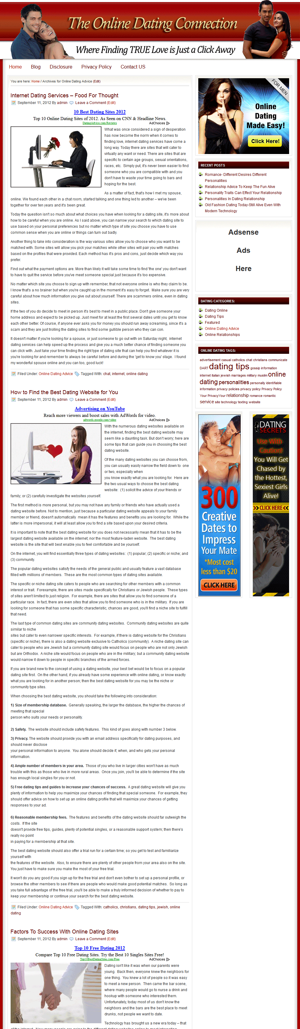 online dating categories One woman said she is giving up online dating because older men are looking  this fifth category consists of women who  the 5 categories of online daters.