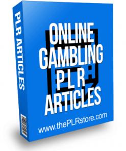 Online Gambling PLR Articles