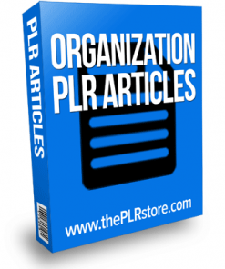 organization plr articles