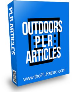 Outdoors PLR Articles