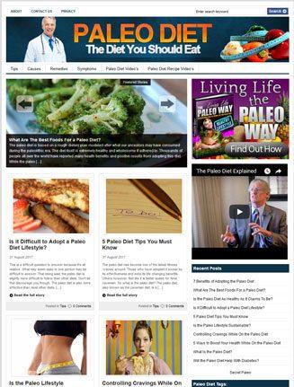 paleo diet plr website