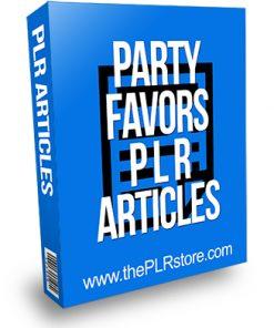 Party Favors PLR Articles