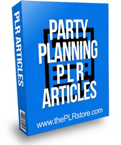 Party Planning PLR Articles