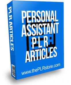 Personal Assistant PLR Articles