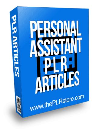 Personal Assistant PLR Articles