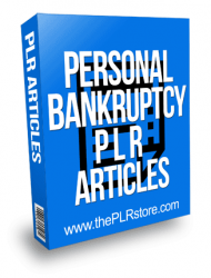 Personal Bankruptcy PLR Articles