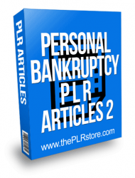 Personal Bankruptcy PLR Articles 2