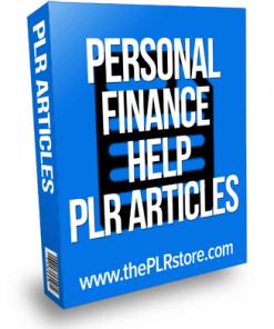 personal finance help plr articles