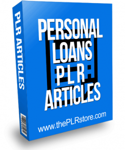 Personal Loans PLR Articles