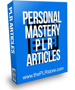 Personal Mastery PLR Articles