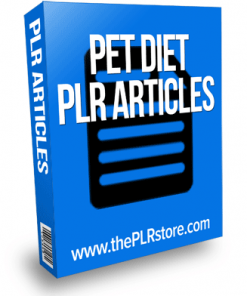 pet diet plr articles
