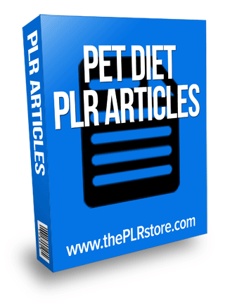 pet diet plr articles