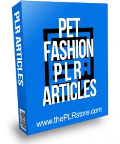 Pet Fashion PLR Articles