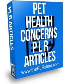 Pet Health Concerns 2 PLR Articles