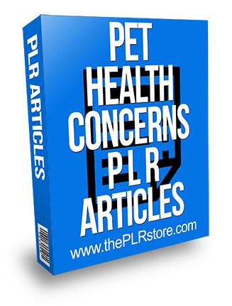 Pet Health Concerns 2 PLR Articles
