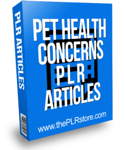 Pet Health Concerns PLR Articles