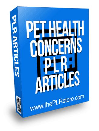 Pet Health Concerns PLR Articles