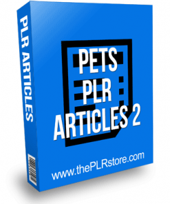 Pets PLR Articles 2 with private label rights