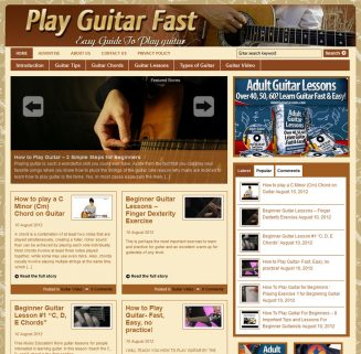 Play Guitar Fast PLR Website play guitar fast plr website main 327x321