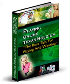 Playing Online Texas Holdem PLR Ebook