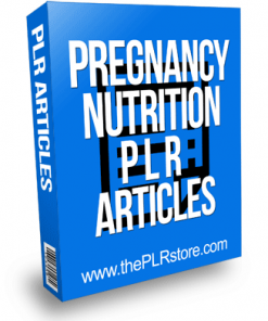 Pregnancy Nutrition PLR Articles