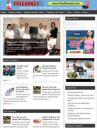 Pregnancy PLR Website