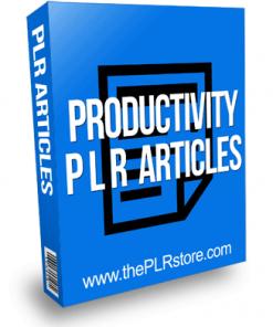 Productivity PLR Articles