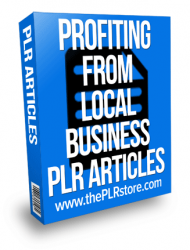 profiting from local business plr articles profiting from local business plr articles Profiting from Local Business PLR Articles profiting from local business plr articles 190x250 private label rights Private Label Rights and PLR Products profiting from local business plr articles 190x250
