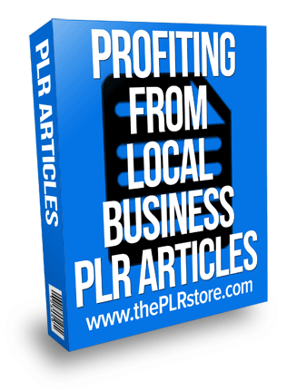 profiting from local business plr articles
