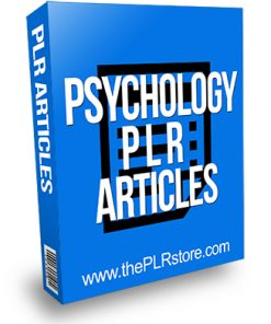 Psychology PLR Articles