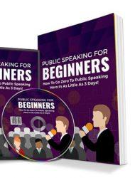 Public Speaking For Beginners PLR Ebook and Audio