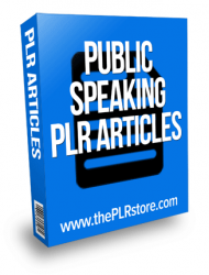 public speaking plr articles
