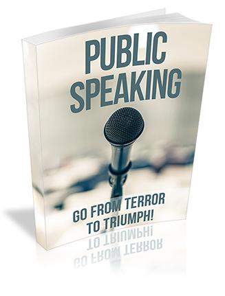 Public Speaking Terror PLR Ebook