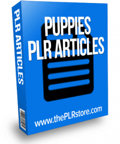 puppies plr articles