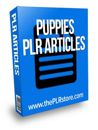 puppies plr articles