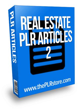 real estate plr articles