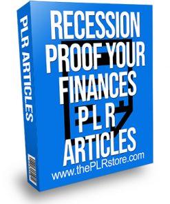 Recession Proof Your Finances PLR Articles
