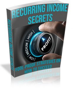 Recurring Income Secrets PLR Ebook