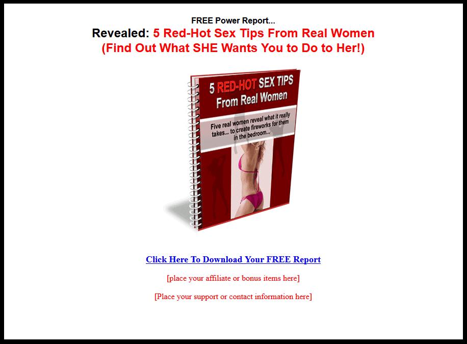 Free sex tips for women
