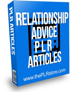 Relationship Advice PLR Articles