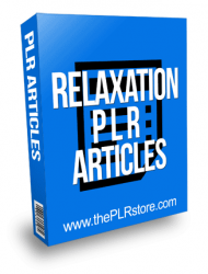 Relaxation PLR Articles with Private Label Rights