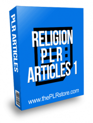 Religion PLR Articles 1