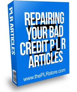 Repairing Your Bad Credit PLR Articles