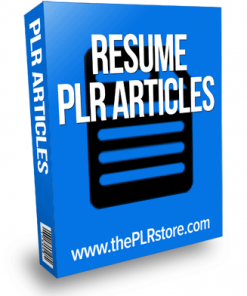 resume plr articles