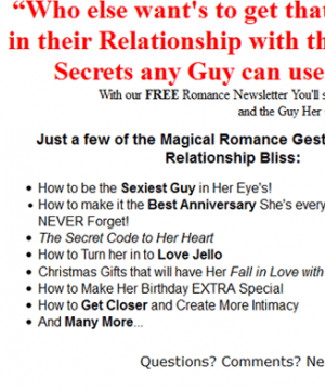 romance for guys plr autoresponder messages
