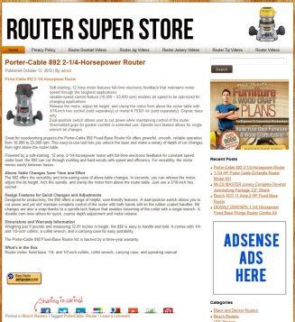 Router PLR Amazon Pre-Loaded Website Store – Woodworking router plr amazon store woodworking main 327x357